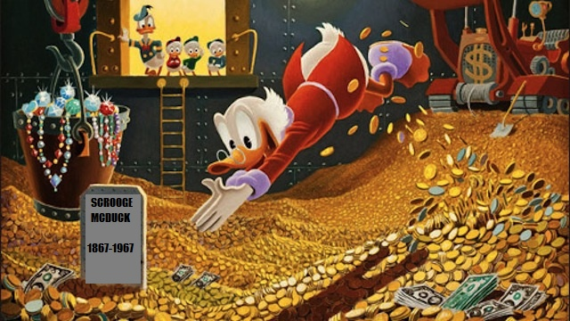 Scrooge McDuck Died In 1967 Aged 100