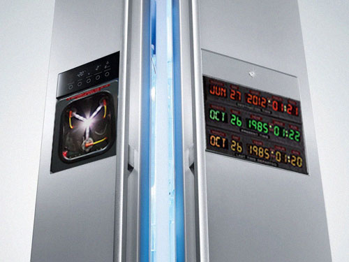 Back To The Future Time Machine Originally Was A Laser Attached To A Refrigerator